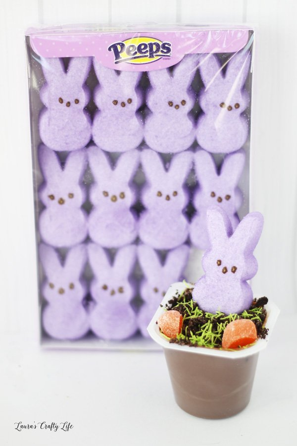 Easter Peeps pudding cups - a delicious and fun treat for Easter