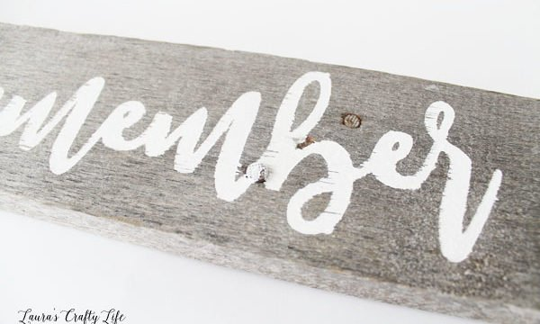 DIY Hand Painted Sign with Cricut