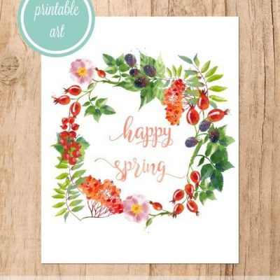 Happy Spring free printable art