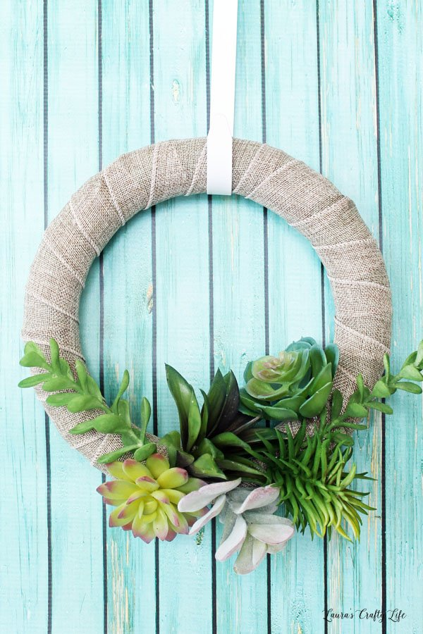 Faux Succulent Wreath Laura S Crafty Life