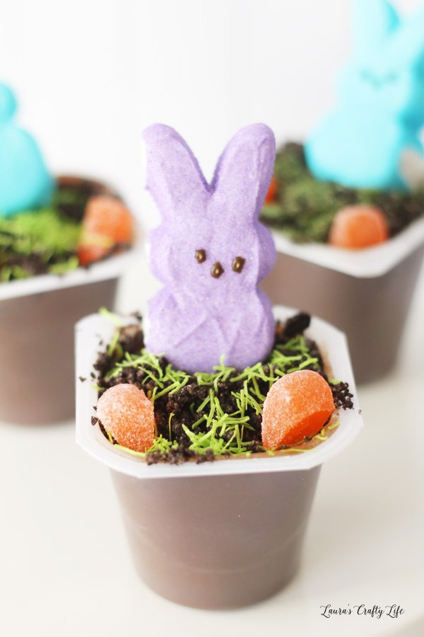 Peeps Easter Pudding Cups - an easy treat to make for spring