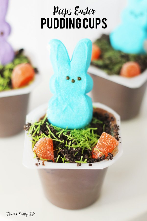 Peeps Easter pudding cups - a delicious and easy treat for Easter