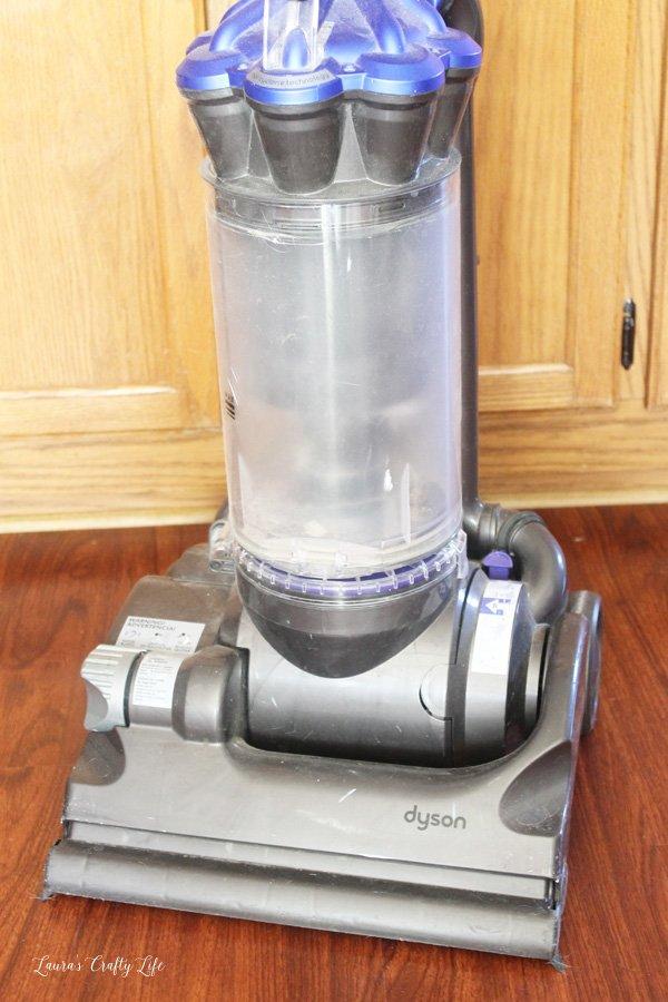 Unplug Dyson vacuum