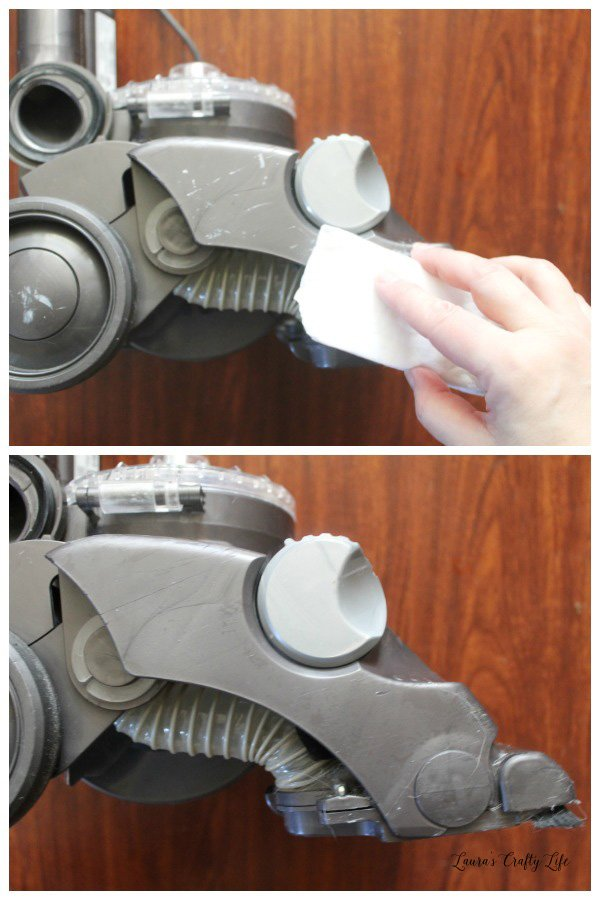 Use Magic Eraser to remove scuffs