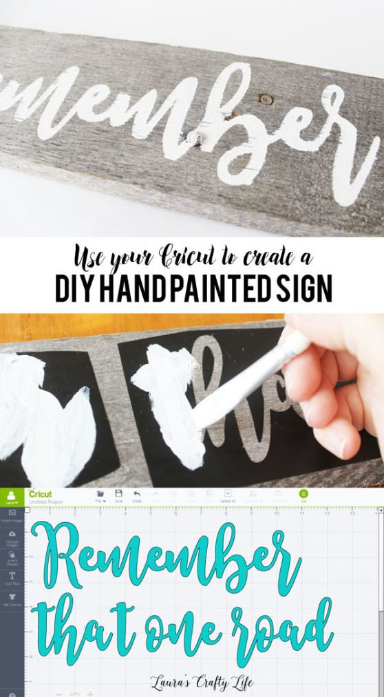 Use your Cricut to create a DIY hand painted sign from a pallet board