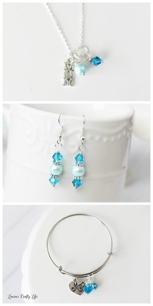 How to make Mother's Day Charm Jewelry - Blue