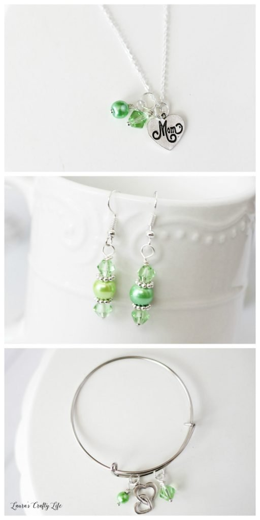How to make Mother's Day Charm Jewelry - Green