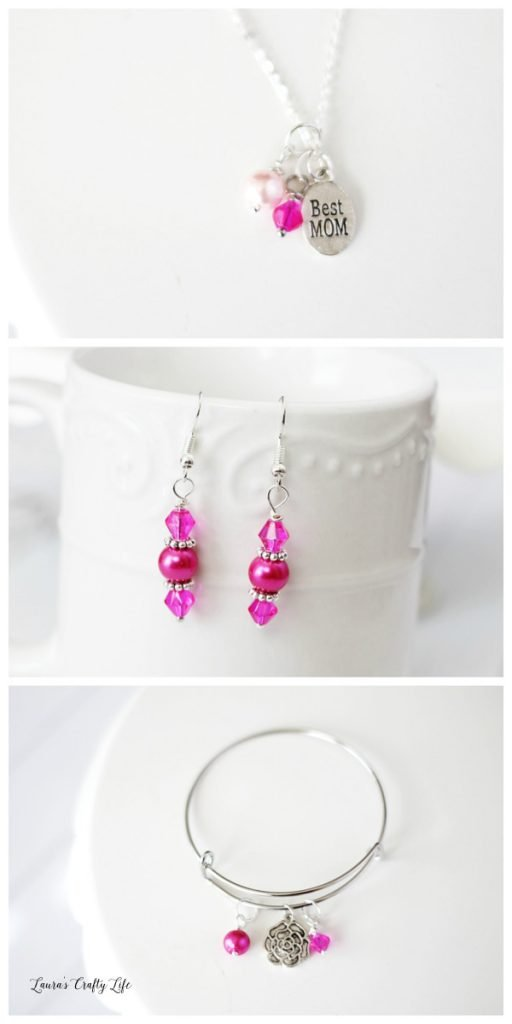 How to make Mother's Day Charm Jewelry - Pink