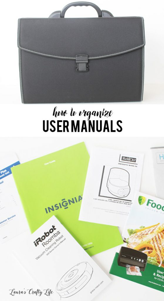 How to organize user manuals - ideas on how to store all your home and user manuals