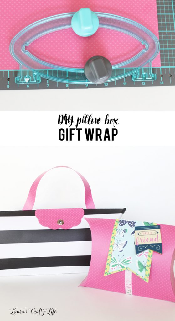 DIY Pillow Box gift wrap - perfect for Mothers Day or your best friend