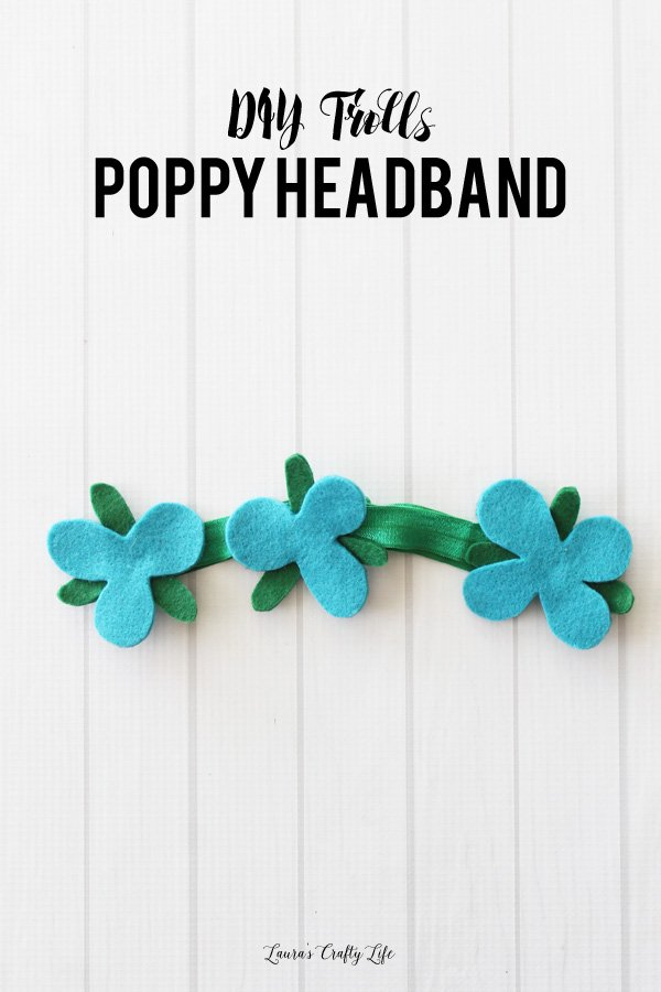 DIY Trolls Poppy Headband with template