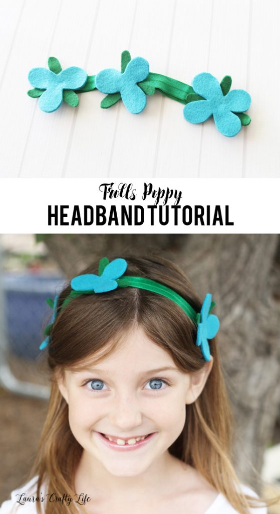 DIY Trolls Poppy headband tutorial