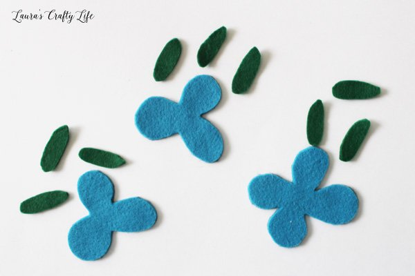 Felt pieces for Trolls Poppy headband