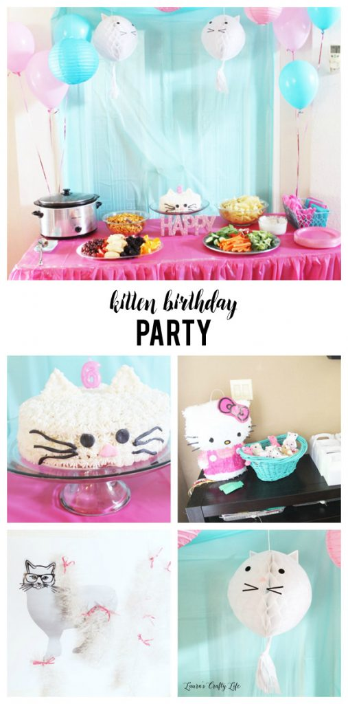 Kitten birthday party lauras crafty life kitten birthday party ideas for invitations games cake and more filmwisefo Image collections