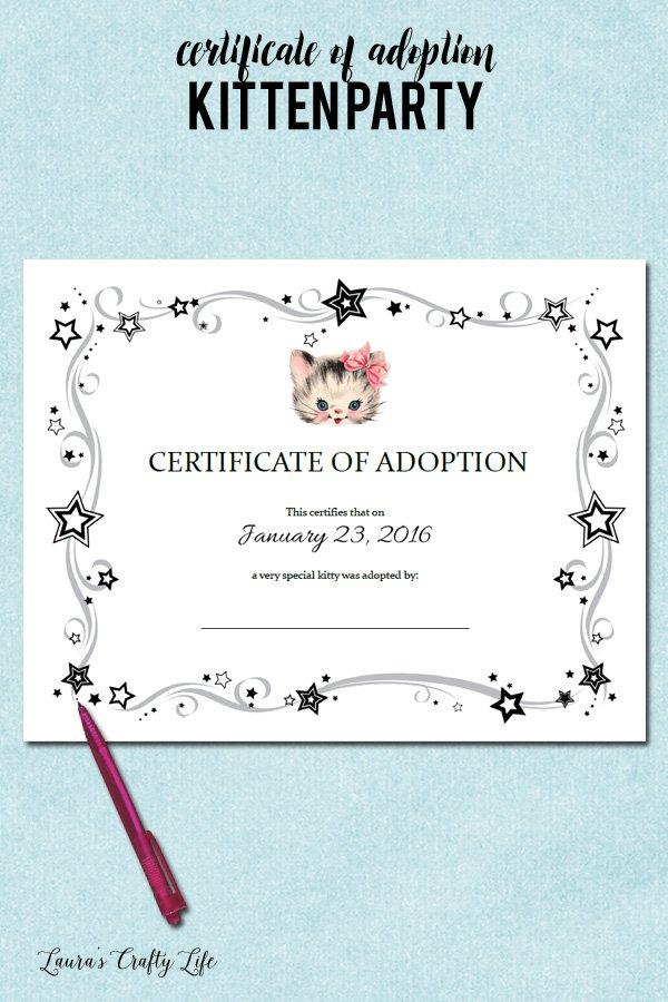 Cat adoption certificate template image collections certificate cat adoption certificate template images certificate design and cat adoption certificate template image collections certificate cat yelopaper Images
