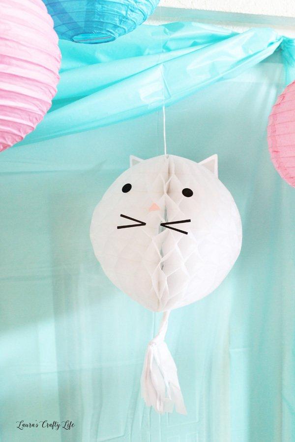 Kitten paper lantern - cat paper lantern