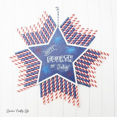 Patriotic Chalkboard Wall Decor