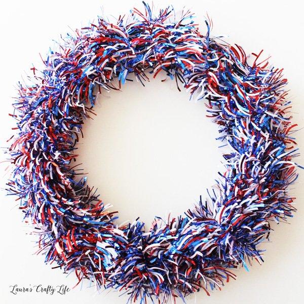 Patriotic wreath base