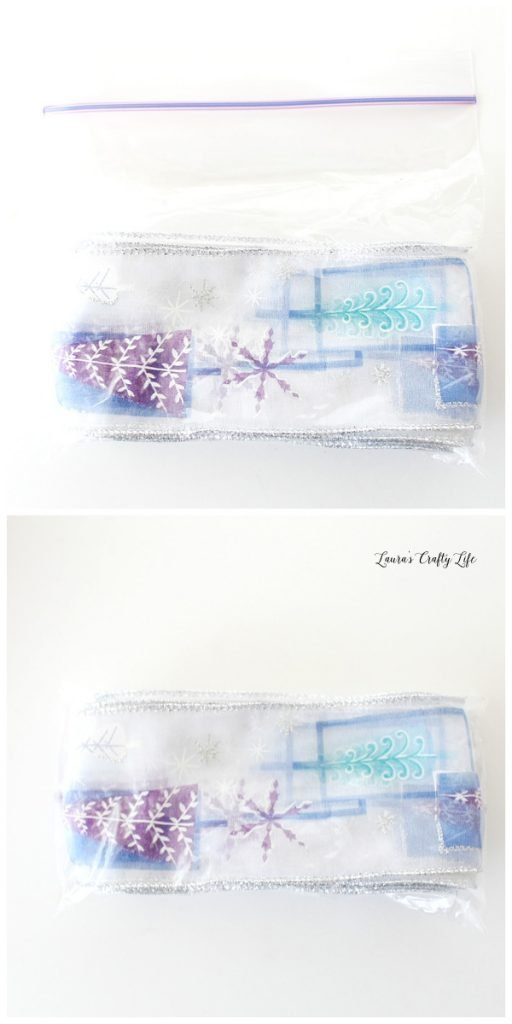 Place ribbon in plastic bag for storage