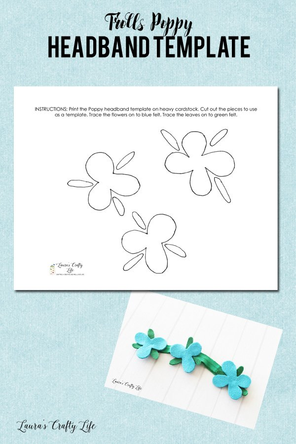 Trolls Poppy headband template