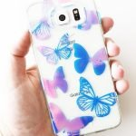 Custom holographic butterfly phone case