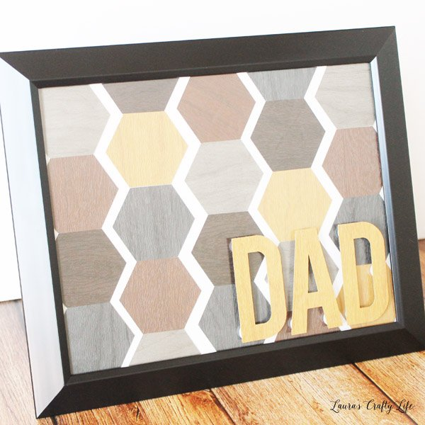 Father's Day hexagon wall hanging