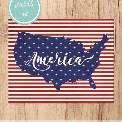 Free Printable America print for the 4th of July