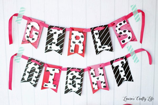 Girls Night party banner