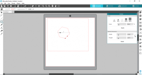 Silhouette Studio - adjust polygon to be 6 sided