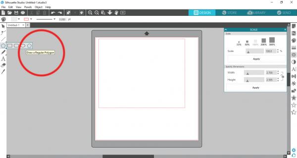 Silhouette Studio - draw a polygon