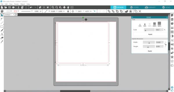 Silhouette Studio - resize rectangle