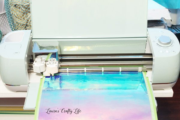 Use Cricut Explore to cut out holographic vinyl