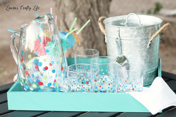 Circle Glasses and Pitcher