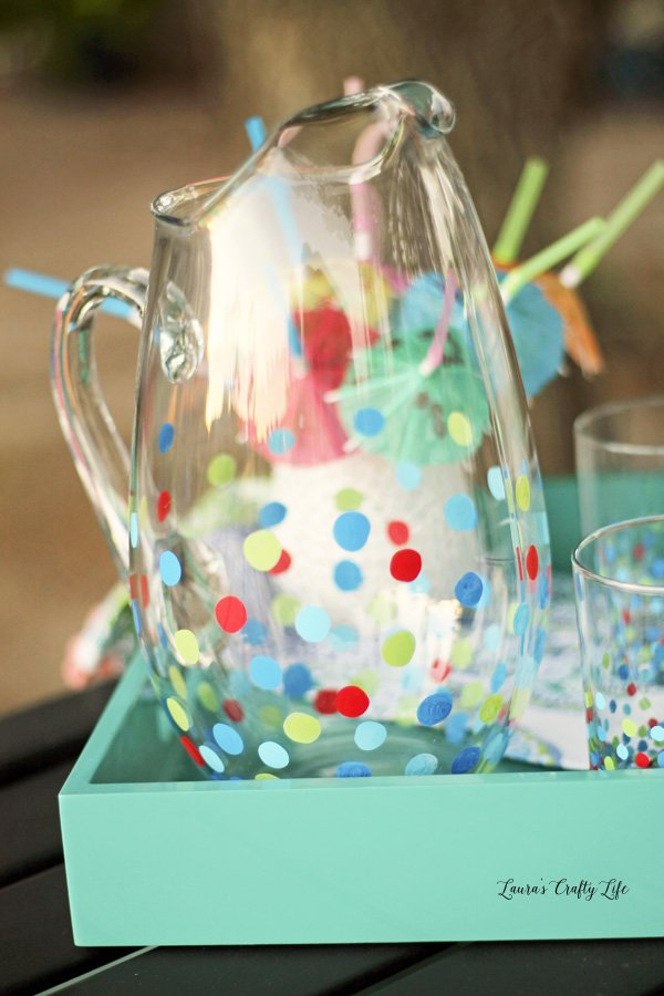 Circle Painted Pitcher