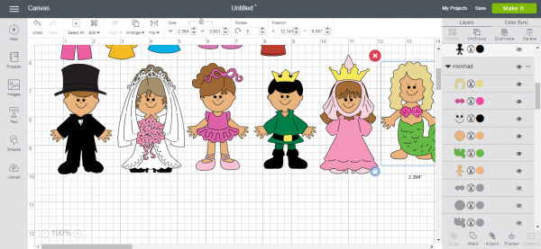 Costumes for paper dolls - Cricut Design Space