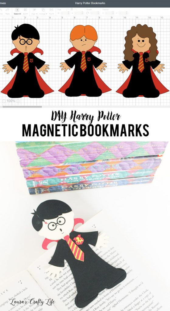 DIY Harry Potter Magnetic Bookmarks - Harry Potter, Ron Weasley, and Hermione Granger