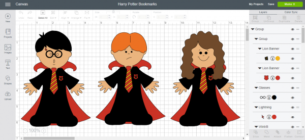 Harry Potter Bookmarks - Cricut Design Space
