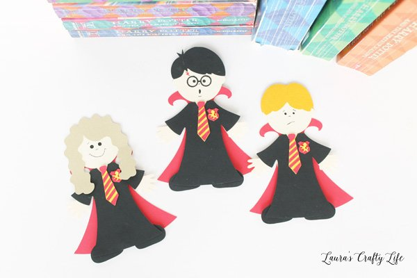 Harry Potter magnetic bookmarks - Harry Ron and Hermione