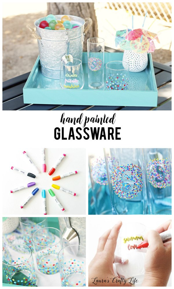 How to create hand painted glassware with World Market #worldmarkettribe #ad