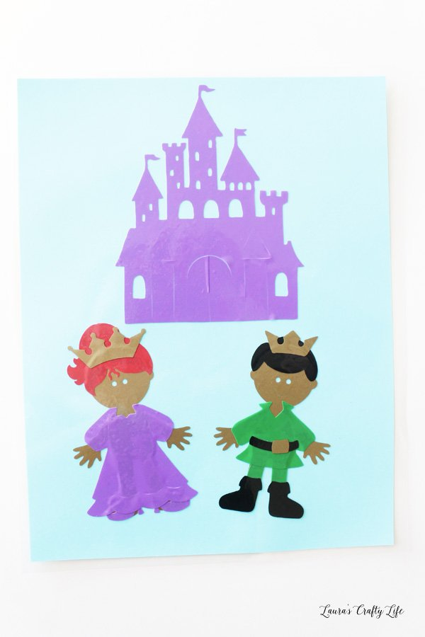 Princess prince and castle window clings
