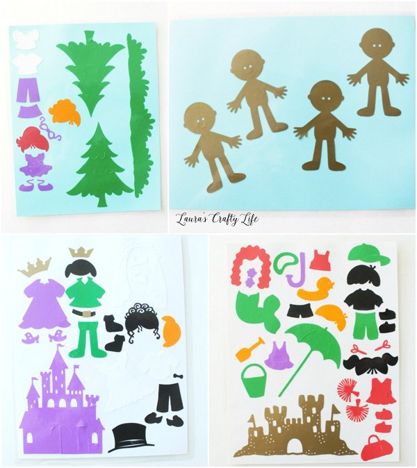 Store all the window cling pieces on laminated cardstock