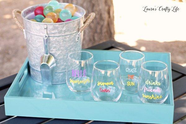 Summer Sayings Glasses
