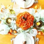 At Home fall tablescape ideas - top down view