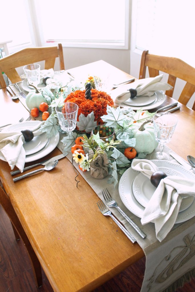At Home fall tablescape ideas