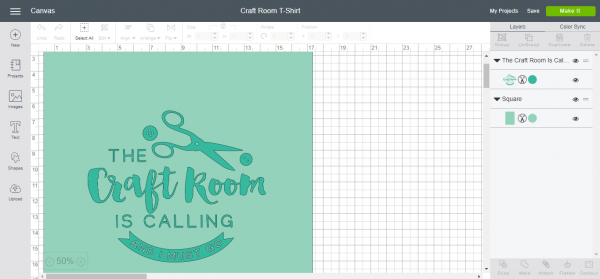 Cricut Design Space: Craft Room T-Shirt