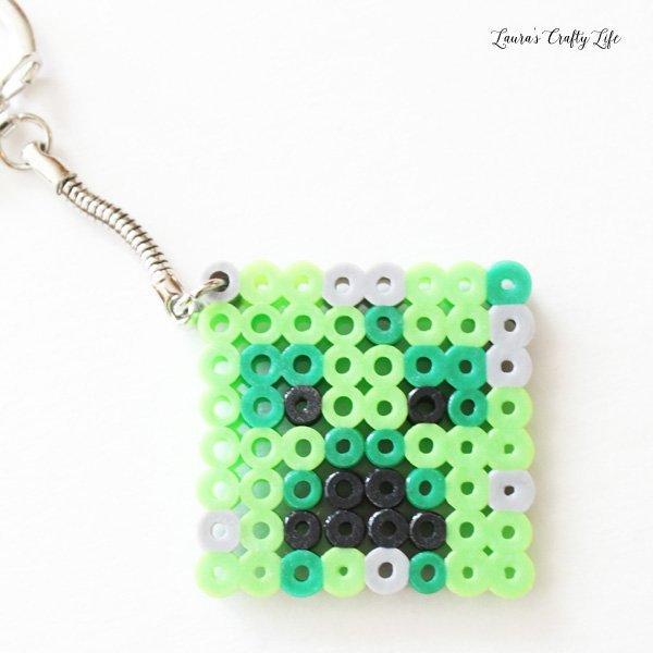 Minecraft Creeper Perler bead keychain