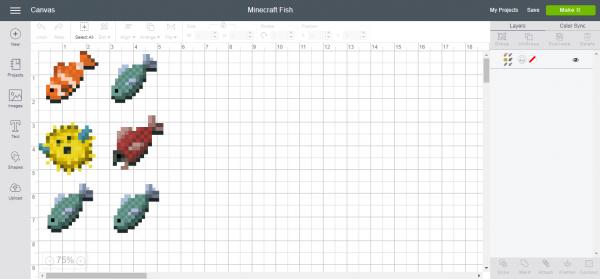 Minecraft Fish - Cricut Design Space