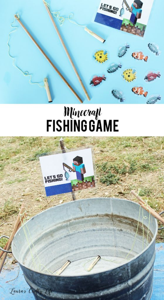Minecraft Fishing Game for Minecraft party
