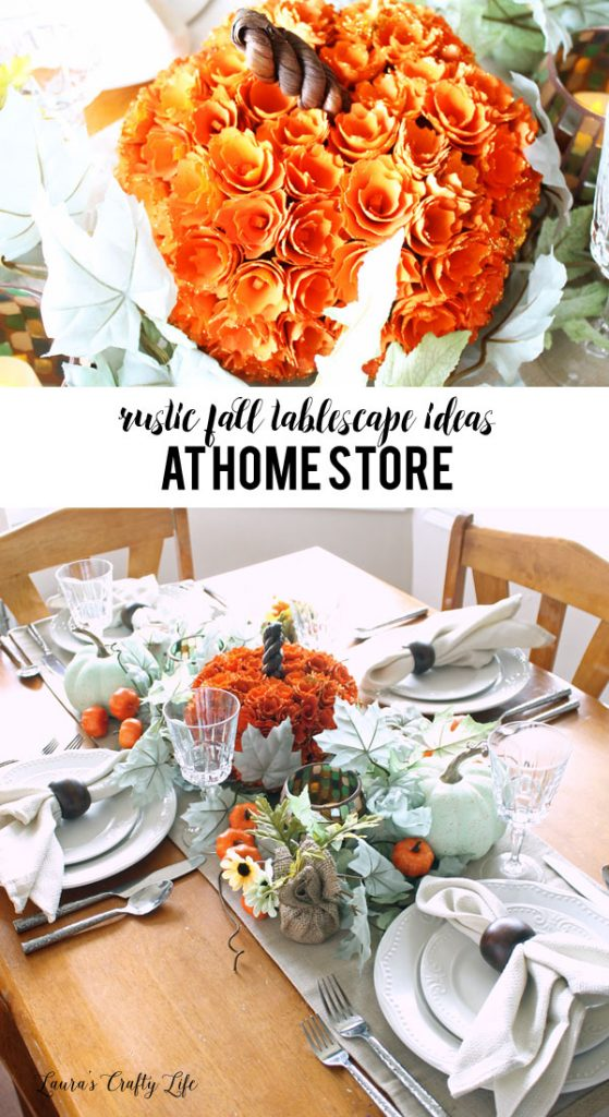 Rustic fall tablescape ideas with At Home