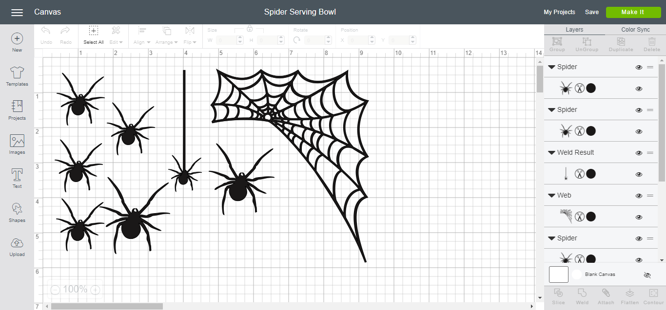 Cricut Design Space - Spider Serving Bowl